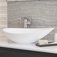 Horizon Bathrooms - Horizon Venus 564mm Polymarble Countertop Wash Basin in White
