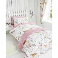 Bedmaker - Horse Show Single Duvet Cover Set Bed Quilt Animals Girls Bedroom