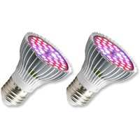 Horticultural bulb E27 LED for plants, 30W E27 with 40LED Full spectrum plant lamp, AC 85-265V, The Growth and Domestic Flowers for Garden /