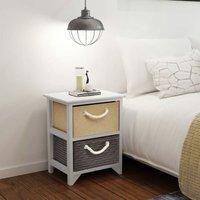 Hosteen 2 Drawer Bedside Table by Brayden Studio - Multicolour