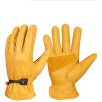 Perle Raregb - Hot gloves, cycling gloves, racing gloves, windbreak gloves, breathable, non-slip, motorcycle gloves in racing ski veneer, yellow L