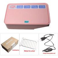 Household UV Sterili-zer Box LED UV Light Disinfect Box, Pink - ASUPERMALL