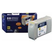 Hewlett Packard - HP 80 350-ml Yellow Ink Cartridge