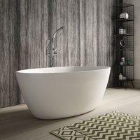 Grace Freestanding Bath 1500mm x 760mm - White - Hudson Reed