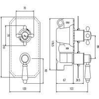 Hudson Reed Topaz Chrome/White Twin Concealed Shower Valve with Diverter