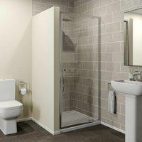 800x800mm Pivot Shower Door Enclosure 4mm Glass Screen Panel Framed Acrylic Tray