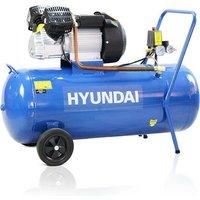 Hyundai 100 Litre Air Compressor, 14CFM/116psi, Silenced, V