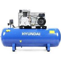 Hyundai 150 Litre Air Compressor, 14CFM/14psi, Twin Cylinder, Belt Drive 3hp   HY3150S