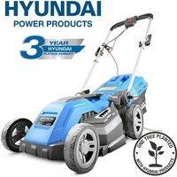 HYM3800E Electric 1600W / 230V 38cm Rotary Rear Roller Mulching Lawnmower - Hyundai