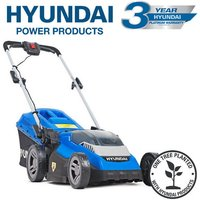 Hyundai HYM40LI380P 40V Lithium-Ion Cordless Battery Powered Roller Lawn Mower 38cm Cutting Width With Battery and Charger