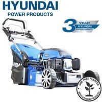 Hyundai HYM480SPR 19 48cm 480mm Self Propelled 139cc Petrol Roller Lawn Mower - Includes 600ml Engine Oil