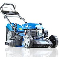 "Hyundai HYM530SPE Self-Propelled Petrol Lawn Mower, (rear wheel drive), 21""/53cm Cut Width, Electric (push button) Start With Pull-Cord Back -Up"