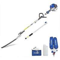 52cc Long Reach Petrol Pole Hedge Trimmer/Pruner | HYPT5200X - Hyundai