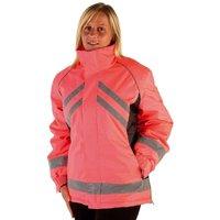 Adults Waterproof Riding Jacket (XS) (Pink/Black) - Hyviz