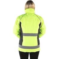 Adults Waterproof Riding Jacket (XL) (Yellow/Black) - Hyviz