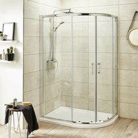 ICE 1200mm x 800mm Offset Quadrant Shower Enclosure, Tray and Waste - Right Hand