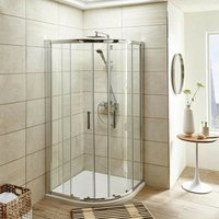 ICE 900mm Quadrant Shower Enclosure, Tray and Waste
