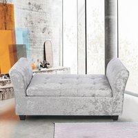 Ice Velvet Storage Footstool Window Seat Bench - LIVINGANDHO