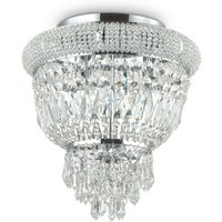 Ideal Lux Dubai - 3 Light Ceiling Light Chandelier Chrome, E14
