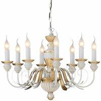 FIRENZE antique white pendant light 8 bulbs