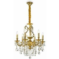 Ideal Lux Gioconda - 6 Light Crystal Chandelier Antique Gold Finish, E14