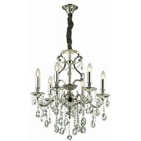 Ideal Lux Lighting - Ideal Lux Gioconda - 6 Light Crystal Chandelier Antique Silver Finish, E14