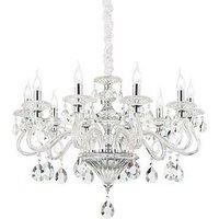 Ideal Lux Negresco - 8 Light Chandelier Clear Glass, E14