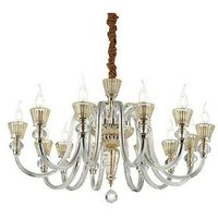 Ideal Lux Lighting - Ideal Lux Strauss - 12 Light Chandelier Rose Gold Finish, E14