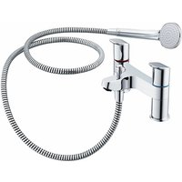 Ceraflex Bath Shower Mixer Tap with Shower Kit - Chrome - Ideal Standard