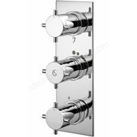 Trevi Aposta TT Concealed Thermostatic Bath Shower Mixer Valve 3 Outlet - Chrome - Ideal Standard