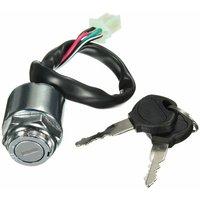 Ignition lock 2 Electric keys 4-PIN Connector block ATV Motorcycle Bike Buggy
