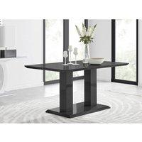 Furniturebox Uk - Imperia 6 Black High Gloss Dining Table