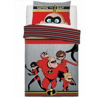 Childrens/Kids Saving The Day Duvet Set (Double) (Multicoloured) - Incredibles