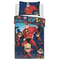 Super City Panel Duvet Cover Set (Single) (Red) - Incredibles