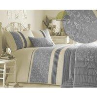 Indea Silver Super King Size Duvet Cover Set Embroidered Bedding Set Quilt