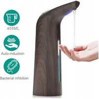 Betterlifegb - Induction soap dispenser, automatic soap dispenser, waterproof non-contact infrared soap dispenser, bathroom and kitchen, deep wood