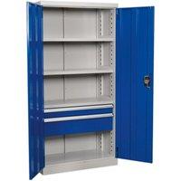 APICCOMBO2 Industrial Cabinet 2 Drawer 3 Shelf 1800mm - Sealey