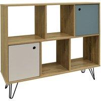 INDUSTRIAL - Open Sideboard Shelving / LP Vinyl Storage - Oak - WATSONS