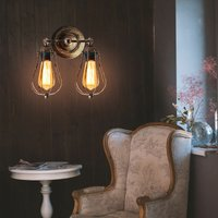 Industrial Wall Sconce Rustic Antique Wall Light Metal Cage Wall Lamp Angle Adjustable Ceiling Light E27 Socket Edison Vintage Retro Wall Lamp for