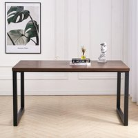 Livingandhome - Industrial Wooden Dining Table 4-6 Seater Kitchen Dinner Office Desk Workstation