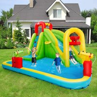 Costway - Inflatable Kids Bouncy Castle Water Slide Play House Bounce Jumping Climbing Type 1