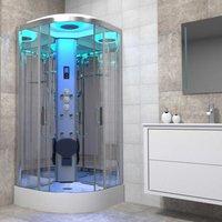 Non Steam Shower Cabin Enclosure 800x800 Premium Bluetooth Chrome Frame - Insignia