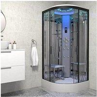 Insignia Non Steam Shower Enclosure Cubicle 1000mm Quadrant Black Frame Top Spec