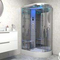 Insignia Platinum 1200 x 800 Shower Cabin Enclosure LH Offset Quad Chrome/Clear