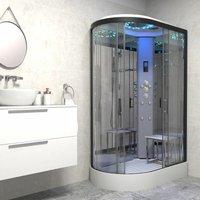 Insignia Platinum 1200 x 800 Shower Cabin Enclosure RH Offset Quad Black/Clear