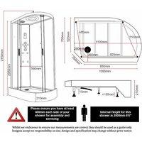 Insignia Platinum Non Steam Shower Cabin Enclosure LH Offset Quad Chrome/Clear