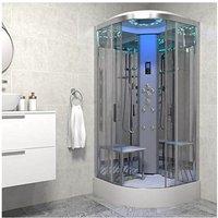 Insignia Platinum Non Steam Shower Cabin Enclosure Quadrant 800mm Chrome/Clear