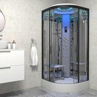 Insignia Platinum Non Steam Shower Cabin Enclosure Quadrant 900mm Black/Clear