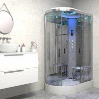 Insignia ® - Insignia Platinum Non Steam Shower Cabin Enclosure RH Offset Quad Chrome/Clear