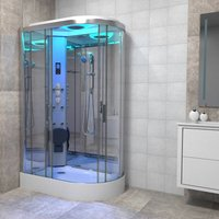 Premium Shower Cabin Enclosure LH Offset Quad 1100 x 700 Chrome/Clear - Insignia